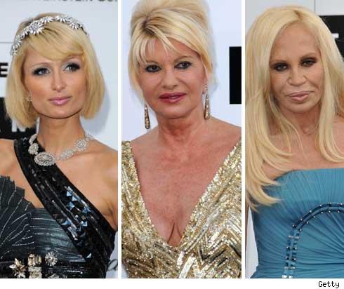 Paris Hilton, Ivana Trump, Donatella Versace