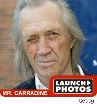 David Carradine launch photos