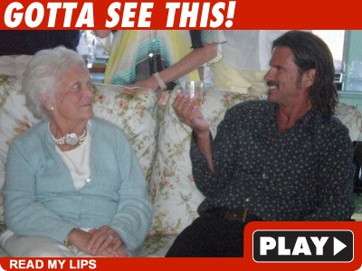 Barbara Bush & Lorenzo Lamas: Click to watch