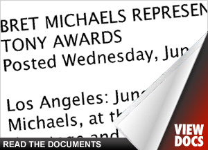 Bret Michaels Tony Awards