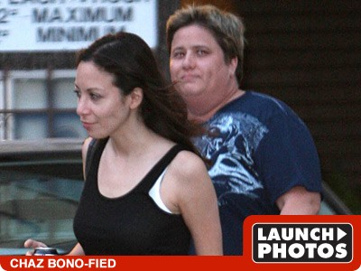 chastity bono before and after. Chaz Bono and Jennifer Elia