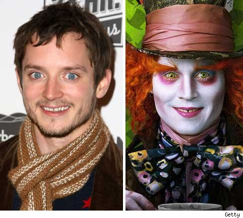 and Johnny Depp as the Mad Hatter in the upcoming Tim Burton flick
