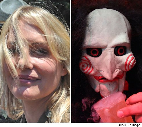 Daryl Hannah and the Saw mask