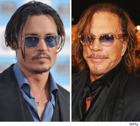 Johnny Depp and Mickey Rourke