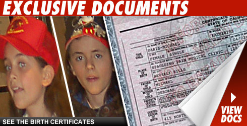 Birth Certificates Click to view!