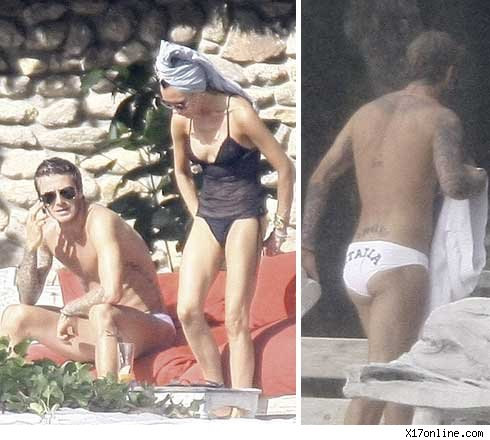 victoria beckham and david beckham 2009. Victoria Beckham Bikini Photos