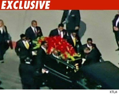 Michael Jackson's Body Inside Casket
