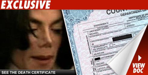 Jackson Death Certificate