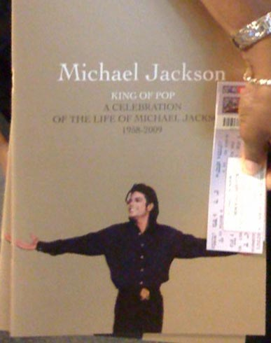 Michael Jackson memorial official program