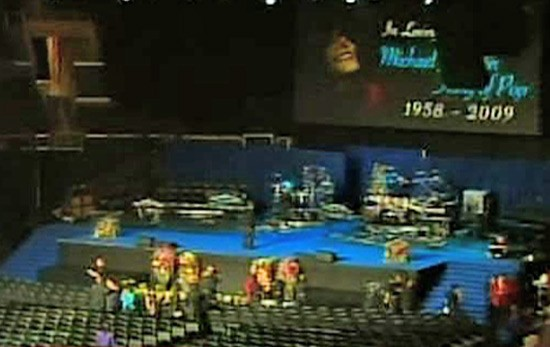 The Stage Michael Jackson's  Memorial