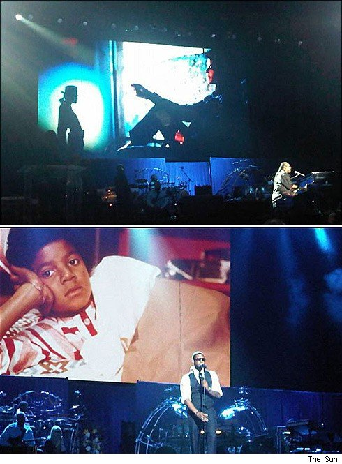 Stevie & Usher Rehearse for MJ Memorial