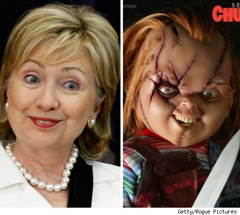 Hillary Clinton and Chucky