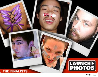TMZ's Pierced People Contest -- Final 5!