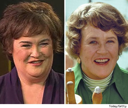 Susan Boyle and Julia Child