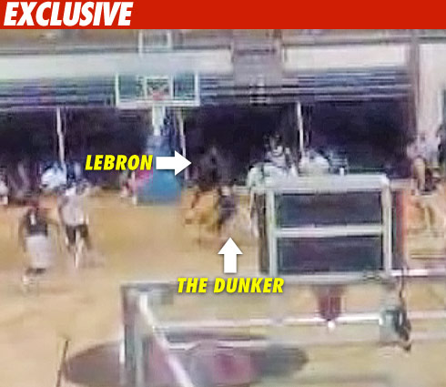 LeBron getting dunked