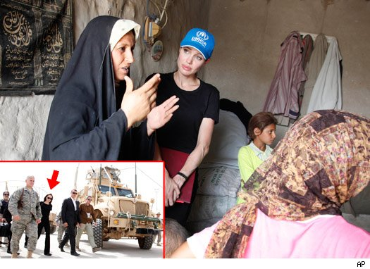 Angelina Jolie Tours Iraq