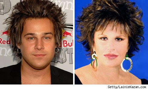 Ryan Cabrera and Lainie Kazan