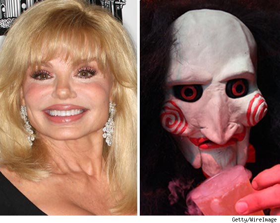 Loni Anderson and SAW mask