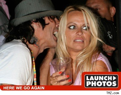 America's favorite sex tape stars Tommy Lee and Pamela Anderson partied it ...