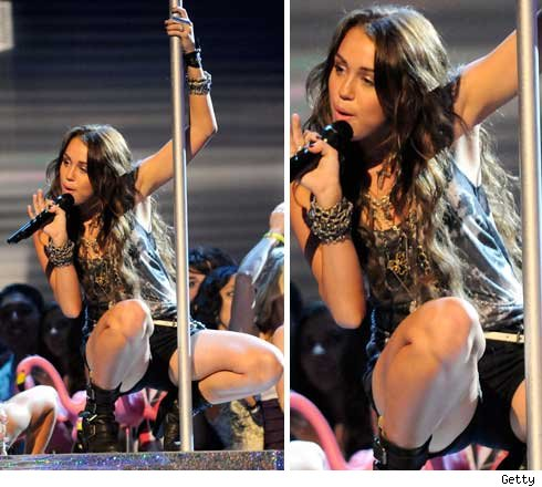 Pro Strippers Rip Miley Over Amateur Pole Riding
