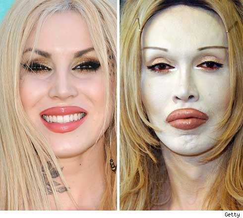 Kat Von D and Pete Burns
