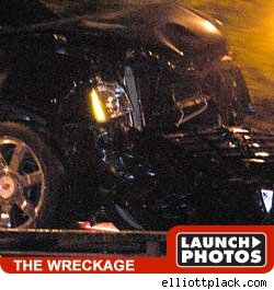 Michael Phelps Involved in Three Car Smash Up - Launch Photos