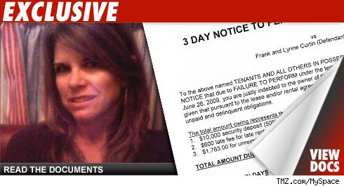 Lynne Curtain eviction notice: Click to launch