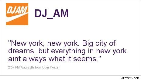 DJ AM's Last Tweet
