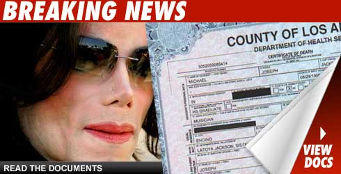 Michael Jackson Death Certificate