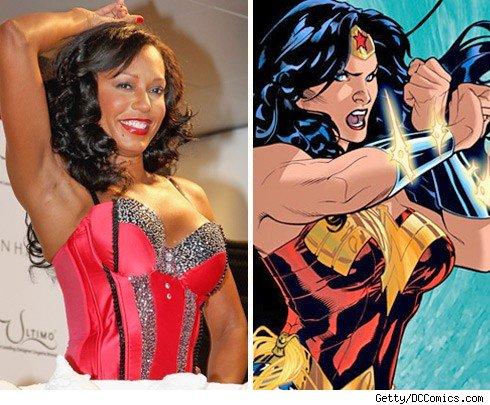 Mel B & Wonder Woman