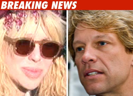 Courtney Love and Bon Jovi
