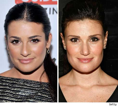lea michele hot body. Lea Michele and Idina Menzel