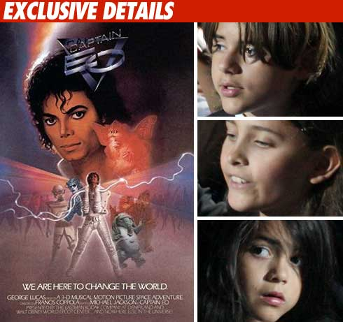 MJ's Kids Watch Private Screening of 'Captain EO'