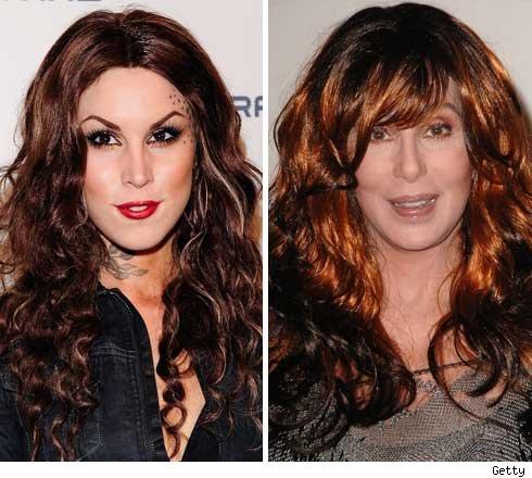 Kat Von D and Cher