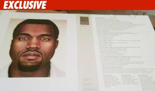 Kanye -- wolfgang puck menu