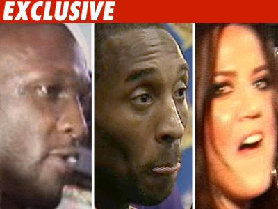 Kobe Bryant, Khloe Kardashian, Lamar Odom