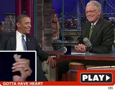 Barack & Letterman: Click to watch