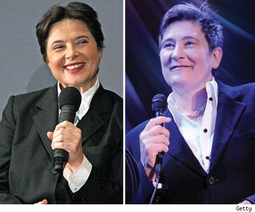 Isabella Rossellini and k.d. Lang