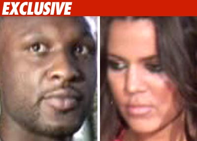 Lamar Odom and Khloe Kardashia