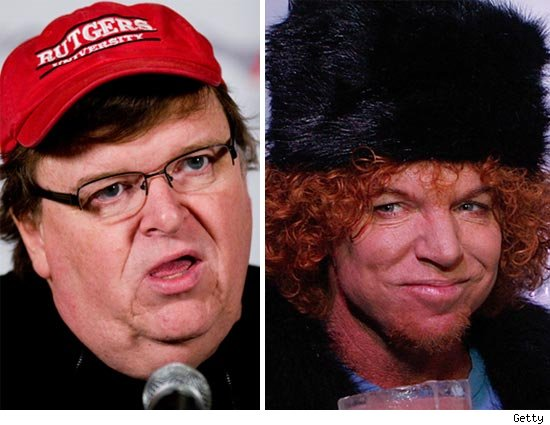 Michael Moore and Carrot Top