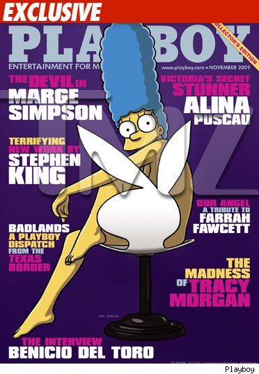 Marge Simpson -- Playboy Cover Girl