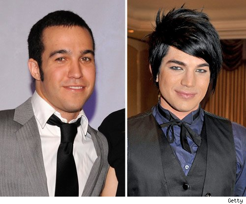 Pete Wentz and Adam Lambert