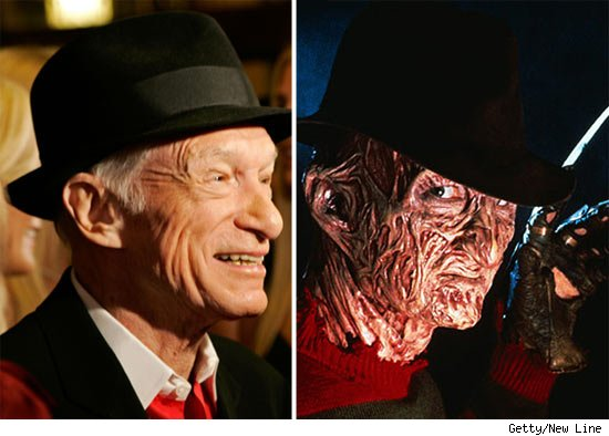 Hugh Hefner and Freddy Krueger