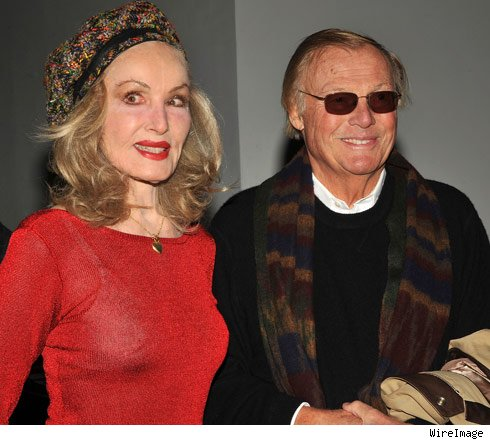 Julie Newmar and Adam West