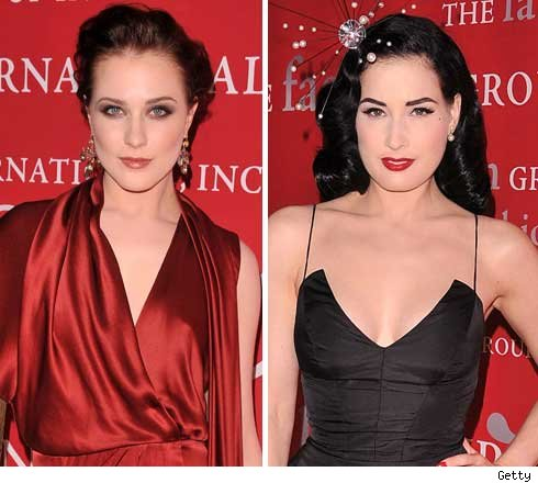 Evan Rachel Wood and Dita Von Teese