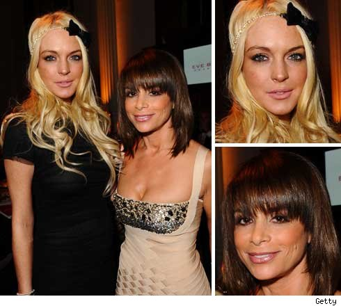 Lindsay Lohan and Paula Abdul