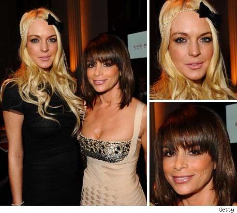 Lindsay Lohan and Paula Abdul
