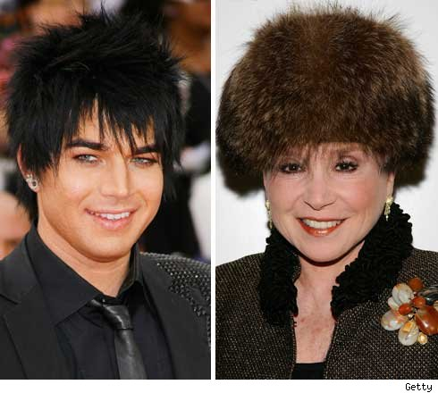 Adam Lambert and Cindy Adams