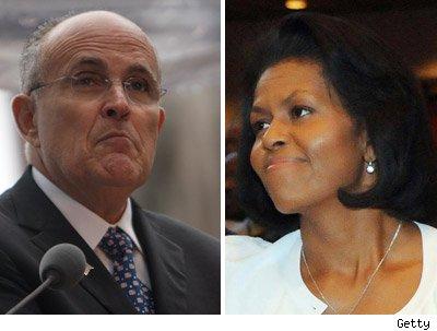 Rudy Giuliani, Michelle Obama