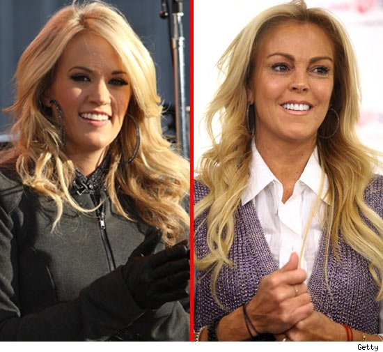 Carrie Underwood and Dina Lohan